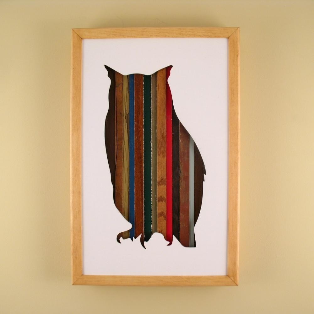 """Owl - 17"""" x 11"""" x 2"""" - $175.00"""