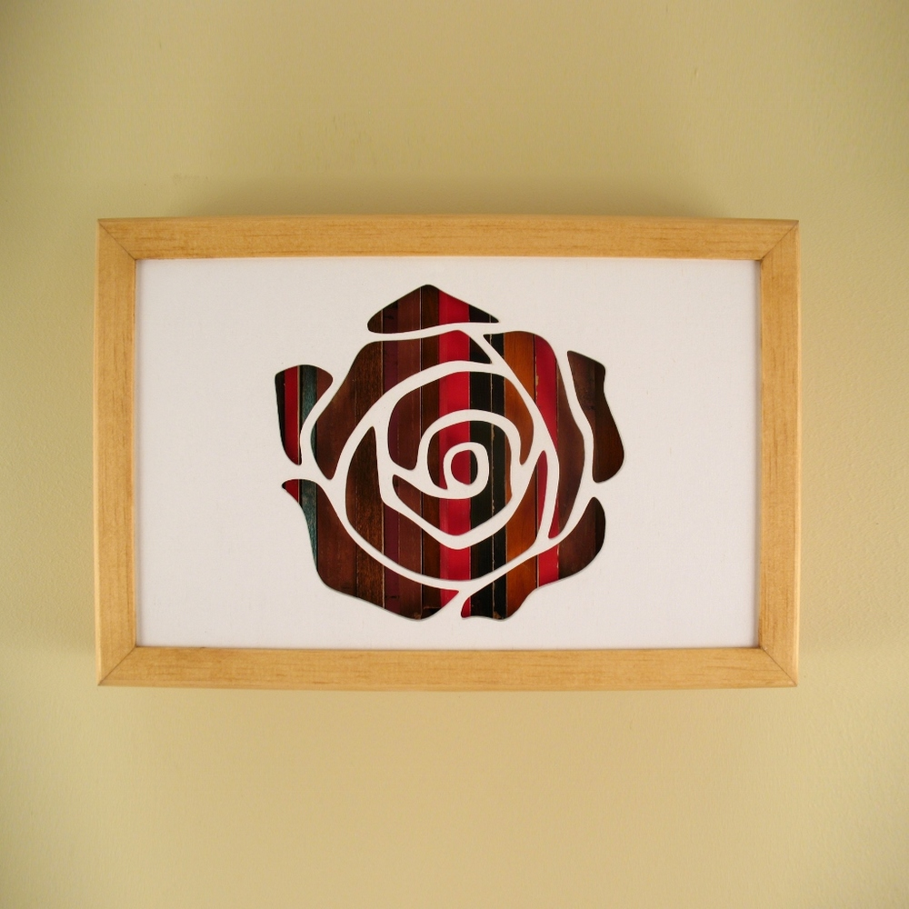 "Rose - 12"" x 8"" x 2"" - $115.00"