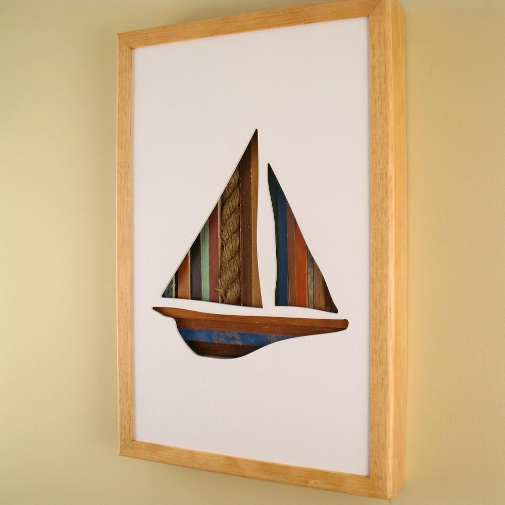 """Sailboat - 17"""" x 11"""" x 2"""" - $175.00"""