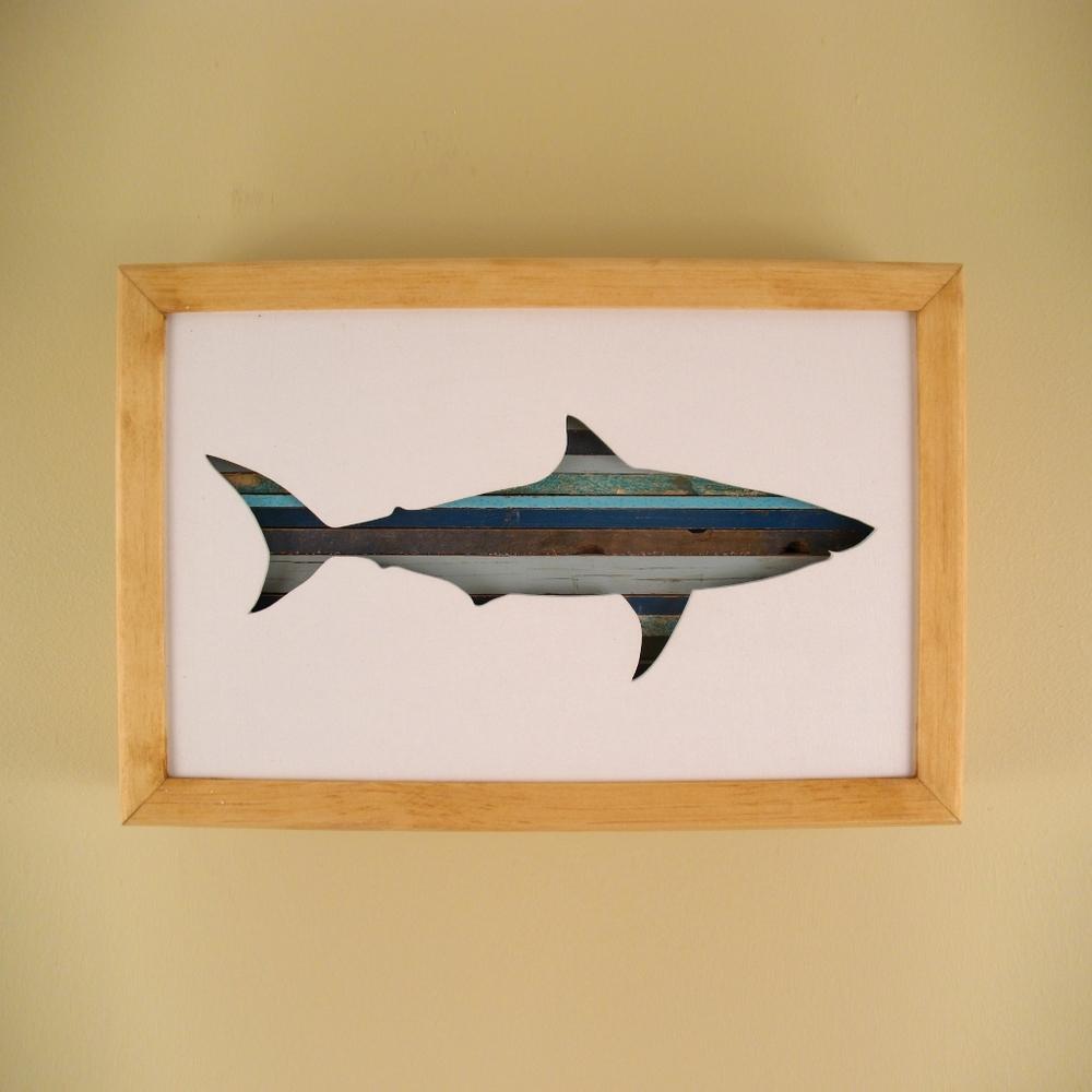 "Shark- 12"" x 8"" x 2"" - $115.00"