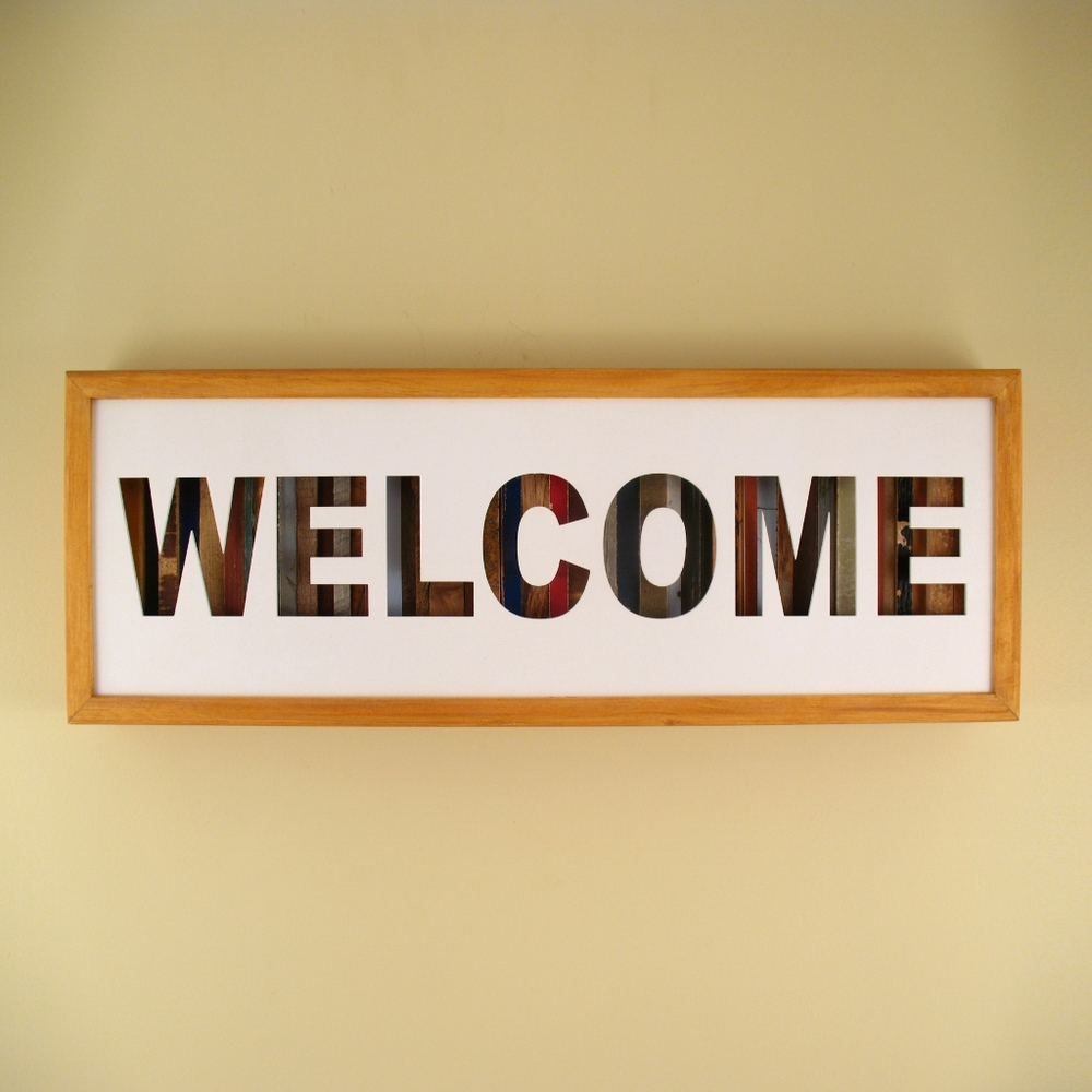 "Welcome - 24"" x 8"" x 2"" - $175.00"