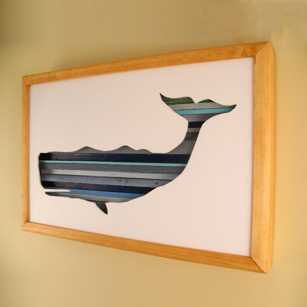 """Whale - 17"""" x 11"""" x 2"""" - $175.00"""