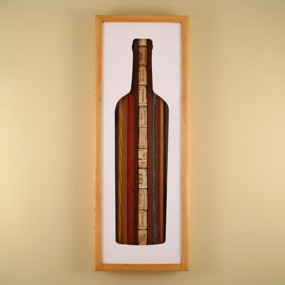 "Wine Bottle - 24"" x 8"" x 2"" - $175.00"