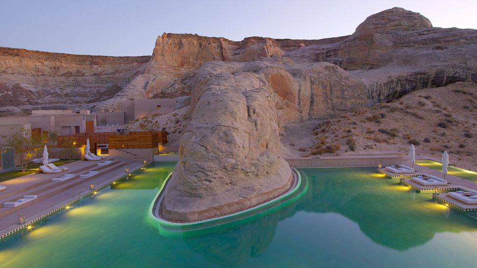 amangiri swimming pool stock and olive