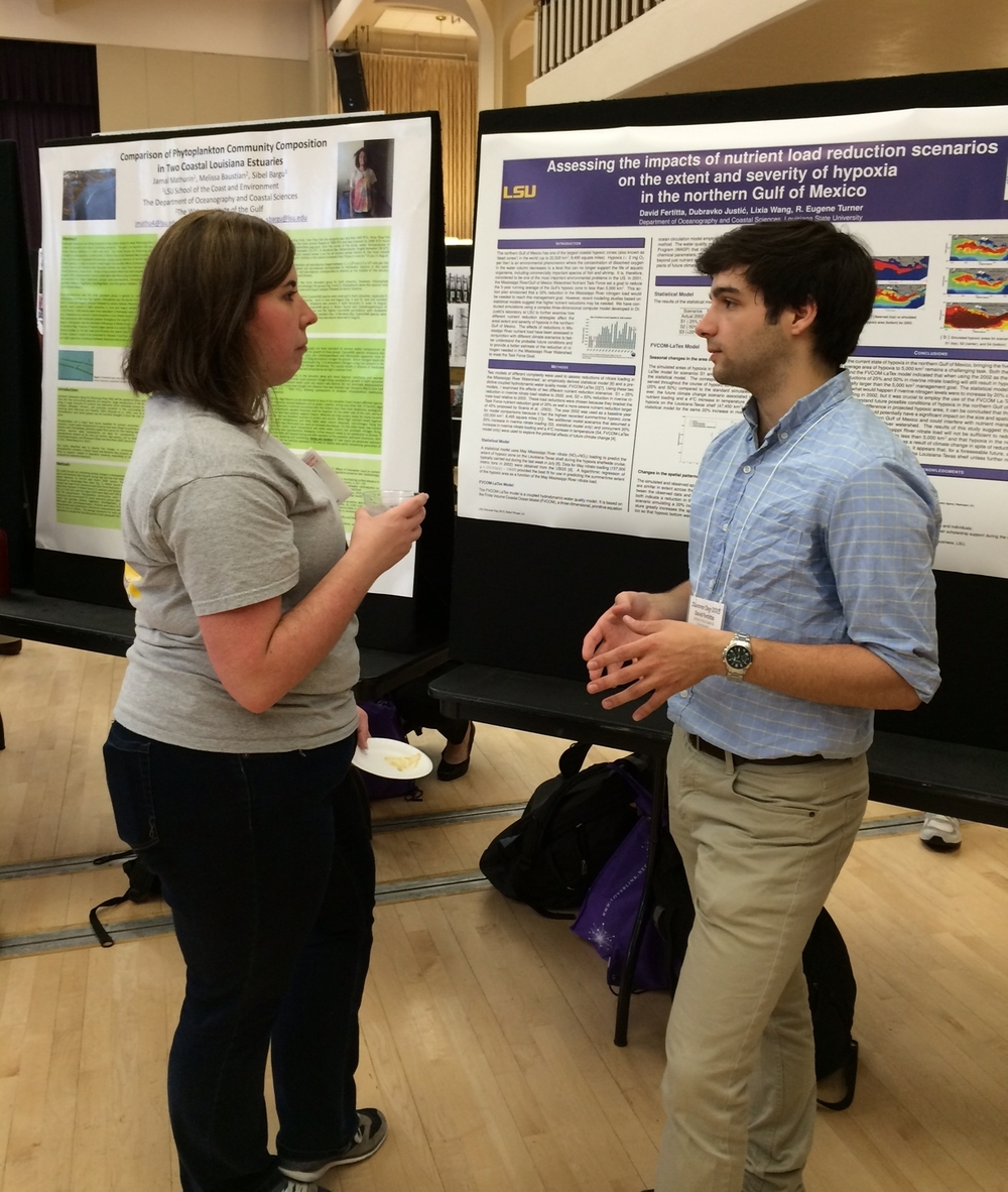 Presenting my research at LSU Discover Day Photo Credit: Vince Wilson