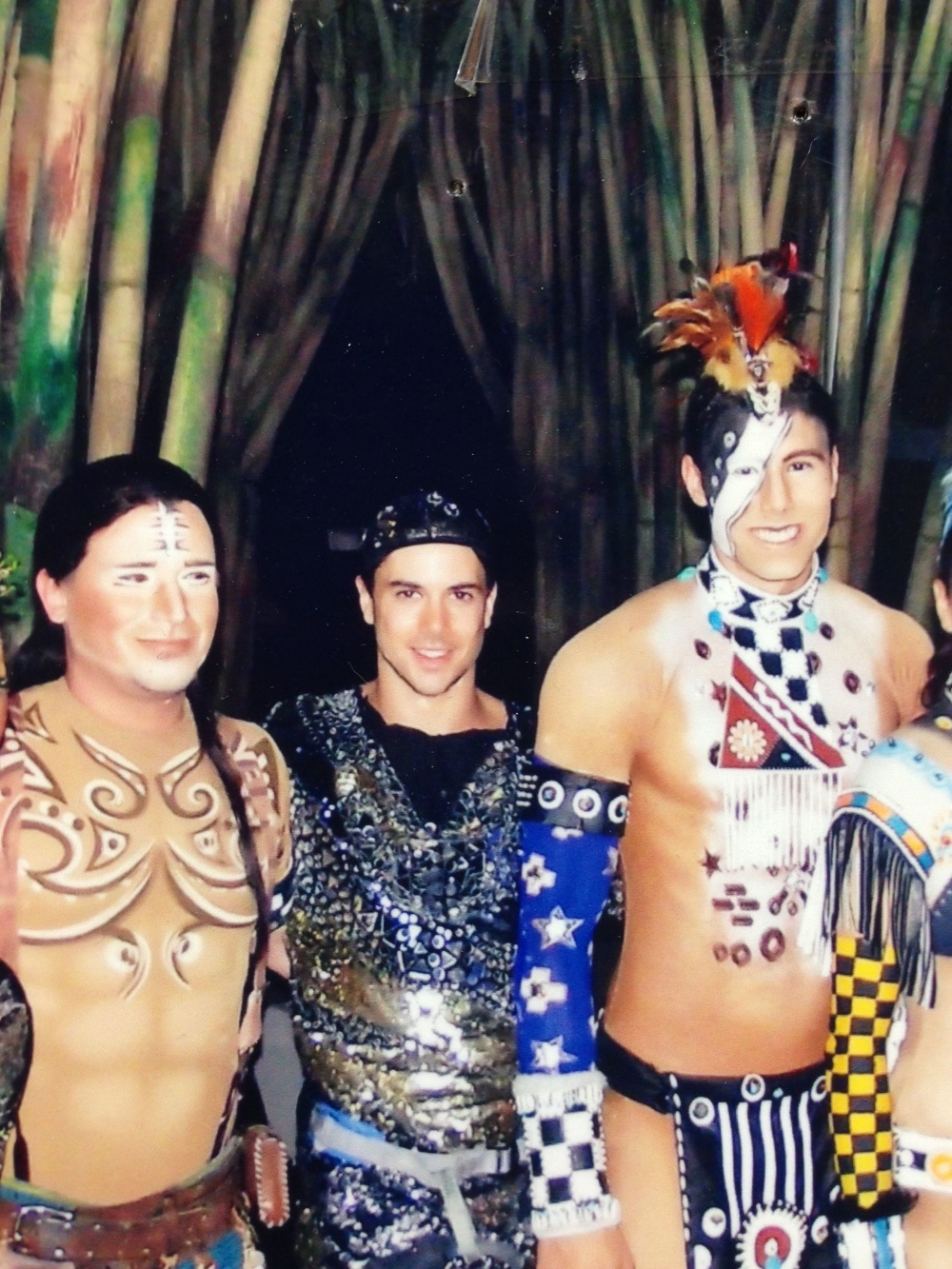 Joe Putignano as the Crystal Man with some of the cast of Cirque du Soleil's Totem