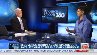 Joe Putignano talking to Anderson Cooper about his memoir Acrobaddict and the uprise of heroin addiction in the United States
