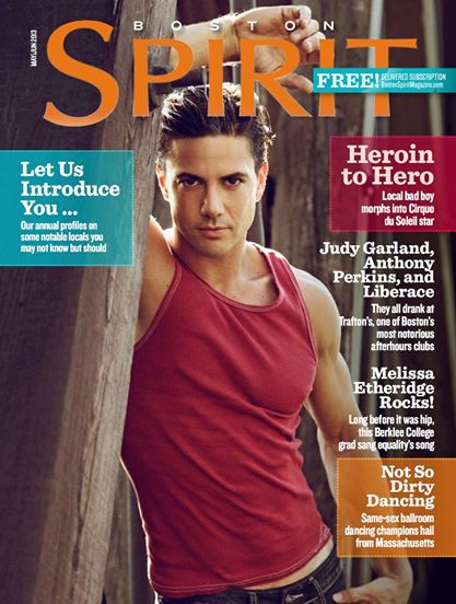 Joe Putignano on the cover of Spirit Magazine with a featured article about Acrobaddict