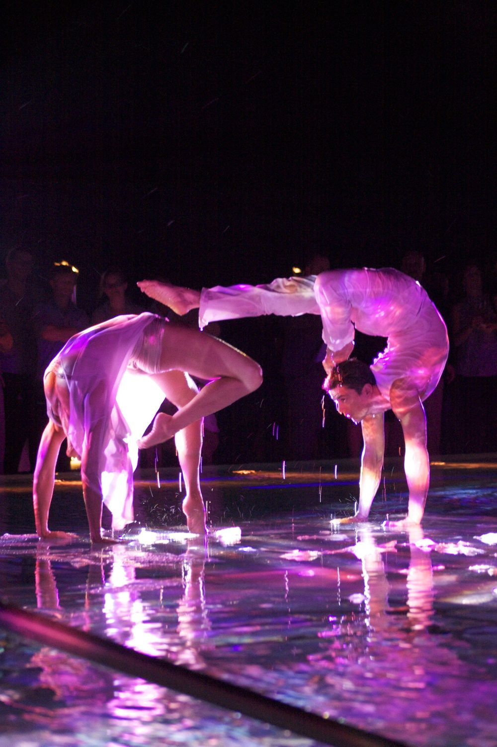Joe Putignano and Alexandria performing for Acroback