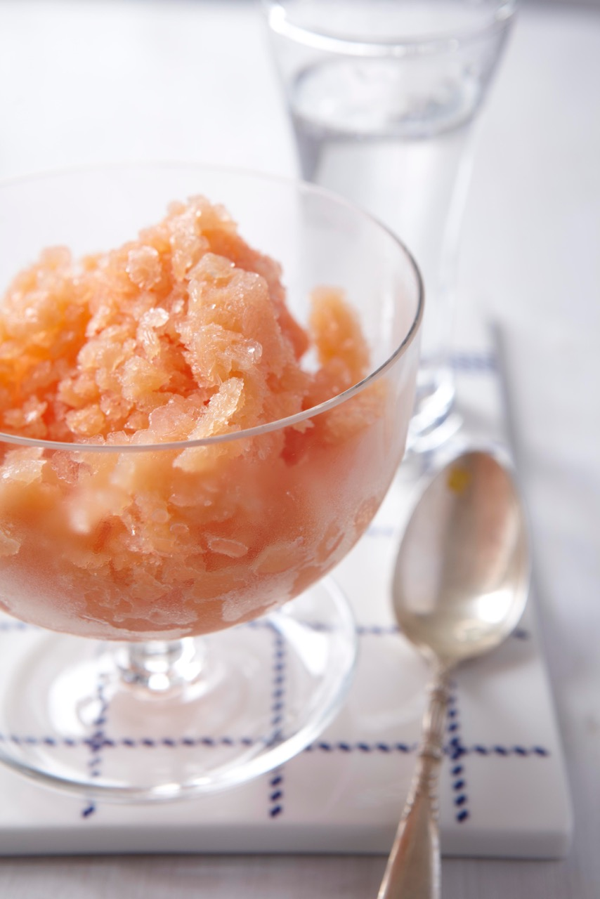 Blood Orange Grappa Granita
