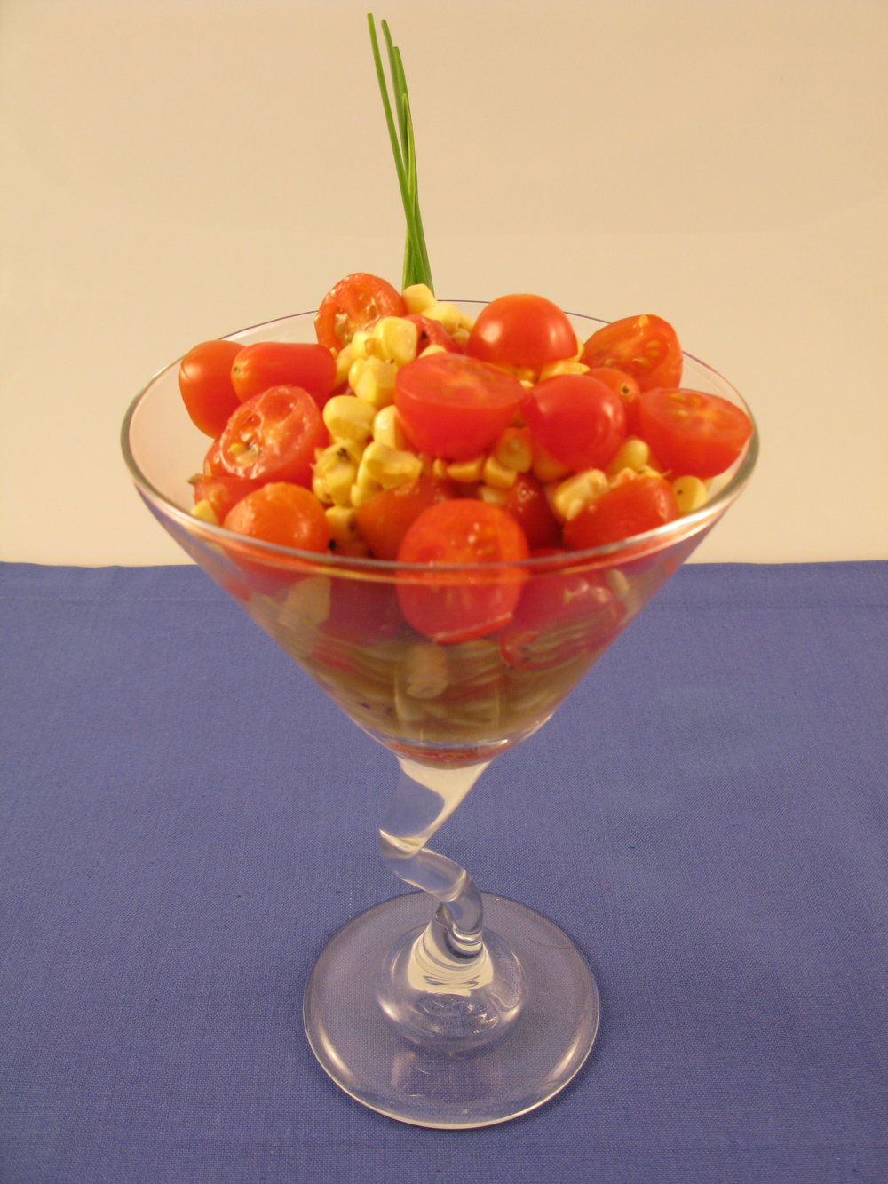 Hand Shucked Corn and Tomato Salad