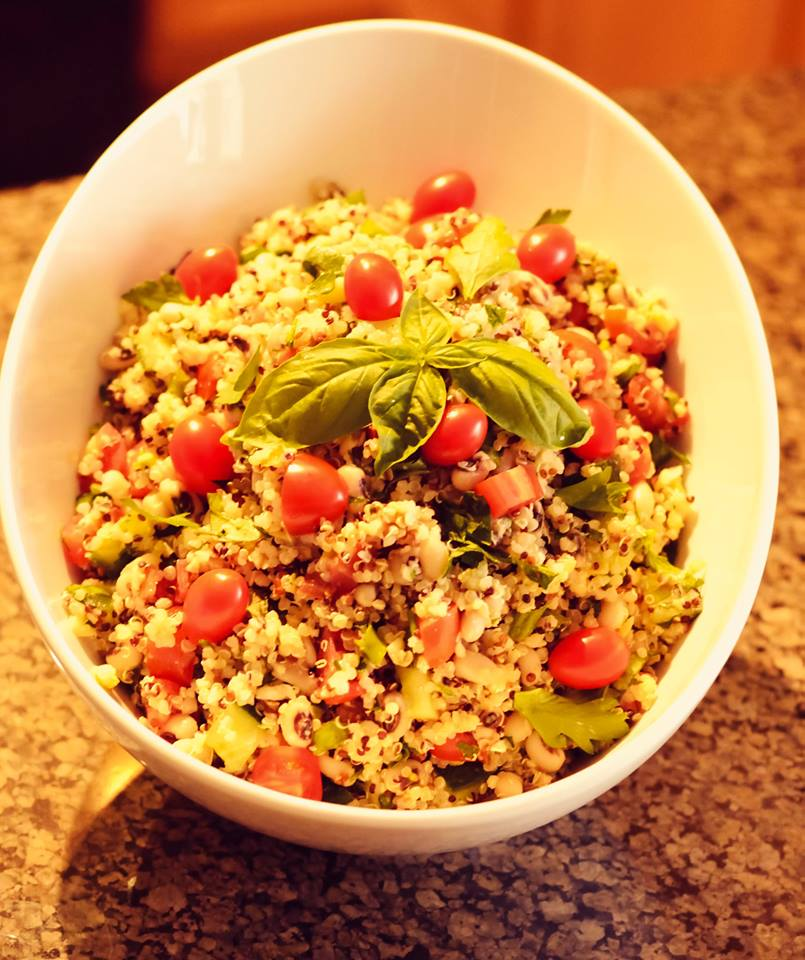Black Eyed Pea and Quinoa Salad