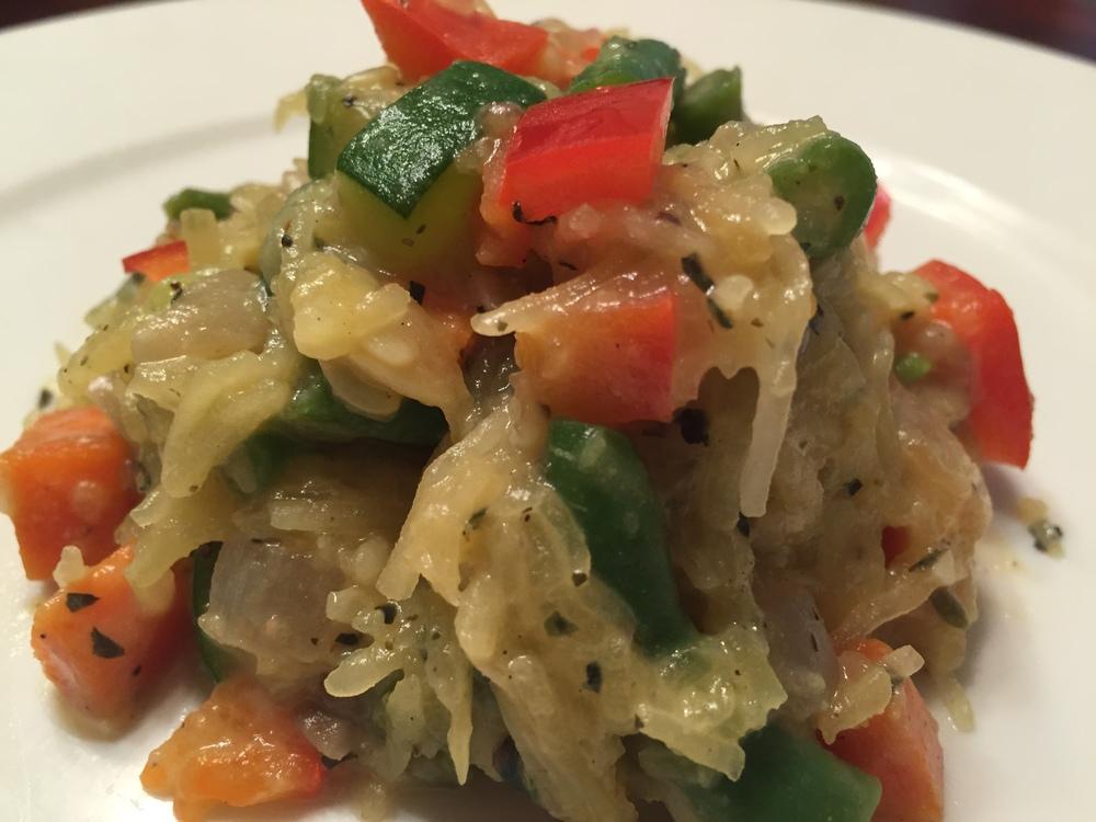 Roasted Spaghetti Squash with Veggies
