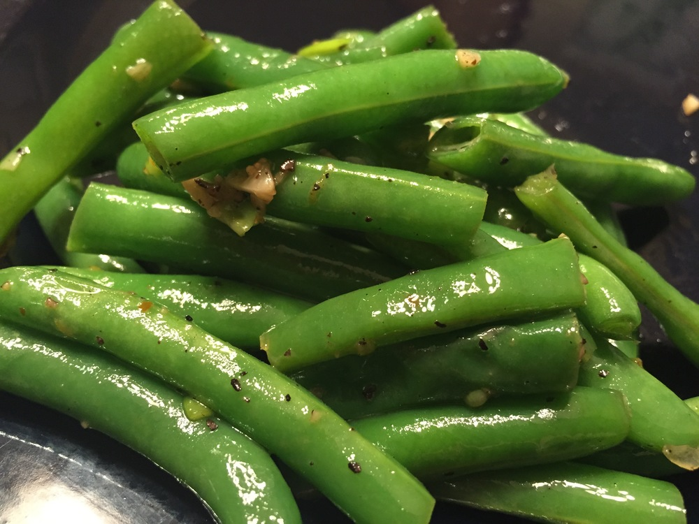 Almond and Garlic Green Beans