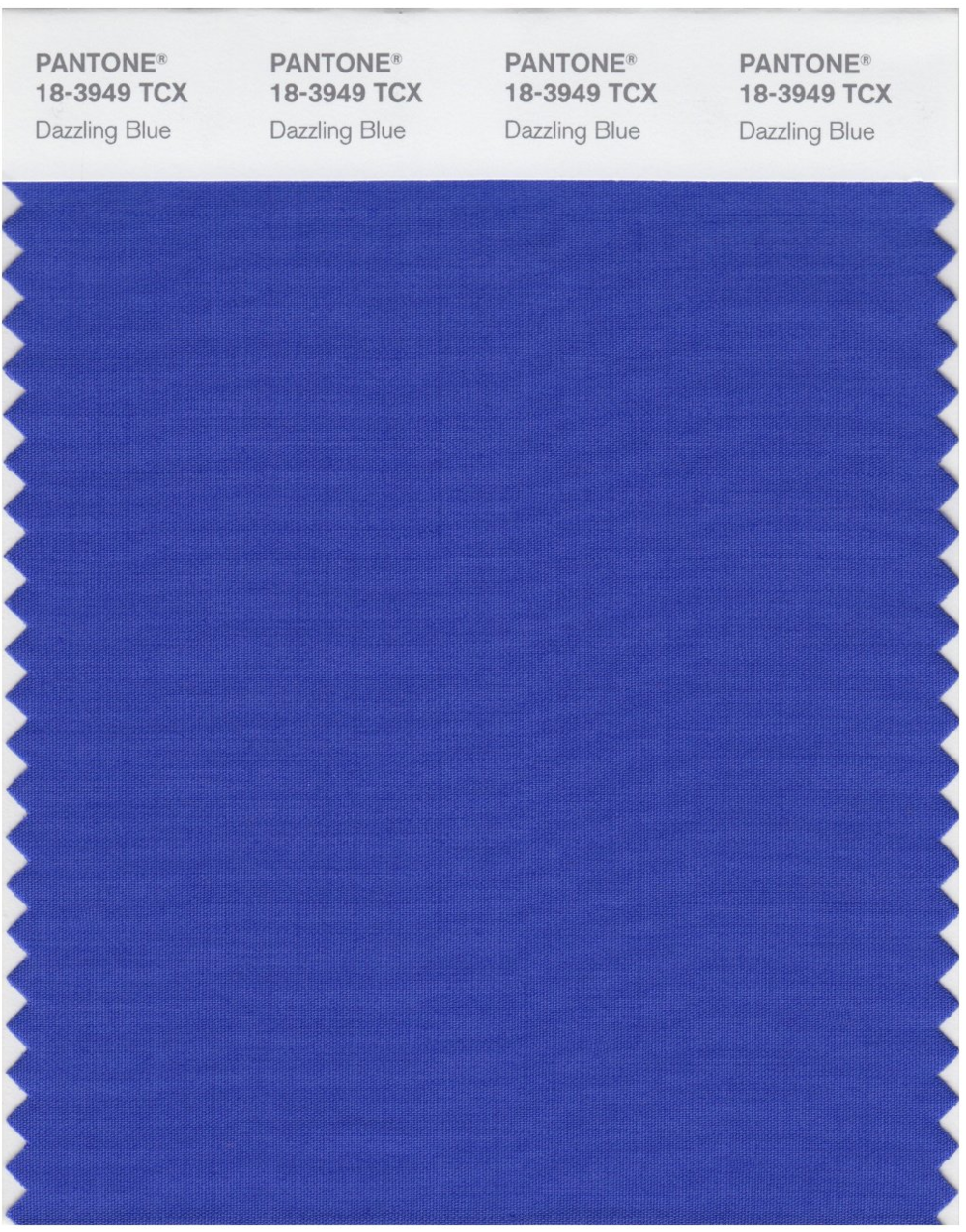 One of Pantone's Top 10 Colours for Spring 2014 'Dazzling Blue'