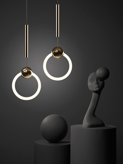 I love Lee Broom's 'Ring Lights', where lighting design meets luxurious jewellery . . .