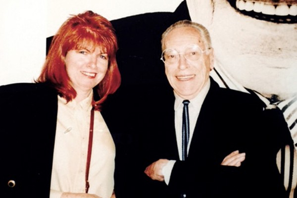 Dawn Kidd and Achille Casiglioni in Milan in 1994.
