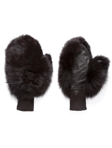 Heading to cooler climates for the holidays, take these adorable furry mittens on your travels! Via  Glamour Pussy NYC