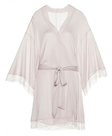 Enchanted kimono robe with lace
