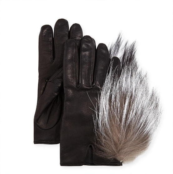 Keep your mits toasty warm and your hands soft this season with the cashmere lined leather gloves with enviable fur trim.