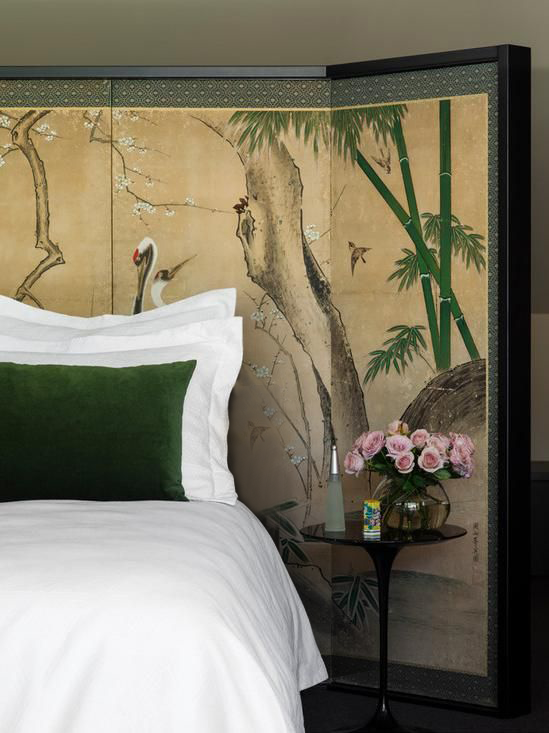 Inject some personality with an intricate wallpaper or delicate chinoiserie print.