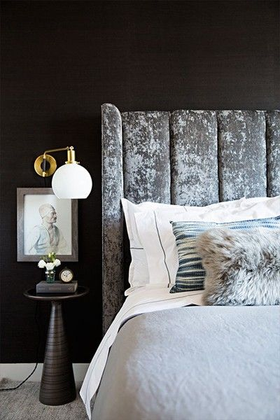 Velvet makes a desirable companion to your well-traveled treasures, often displayed on bedside tables.