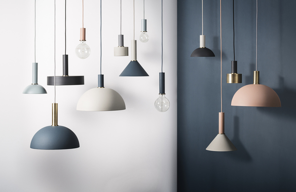 Beautiful muted colours in dusky rose, deep green, intense blue and dusty neutrals. Danish homewares Ferm Living has nailed it! We are in LOVE.