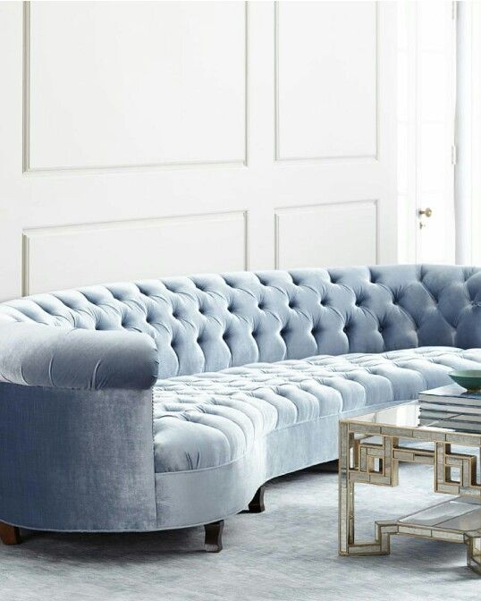 Haute House: Rebecca Mirrored Sofa via Neiman Marcus