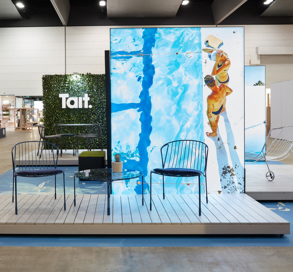 We have admired the work of  Tait Furniture  for many years, and their presence at DENFAIR only confirmed why. Their gorgeous outdoor furniture collections were beautifully presented in collaboration with Melbourne firm  DesignOffice .