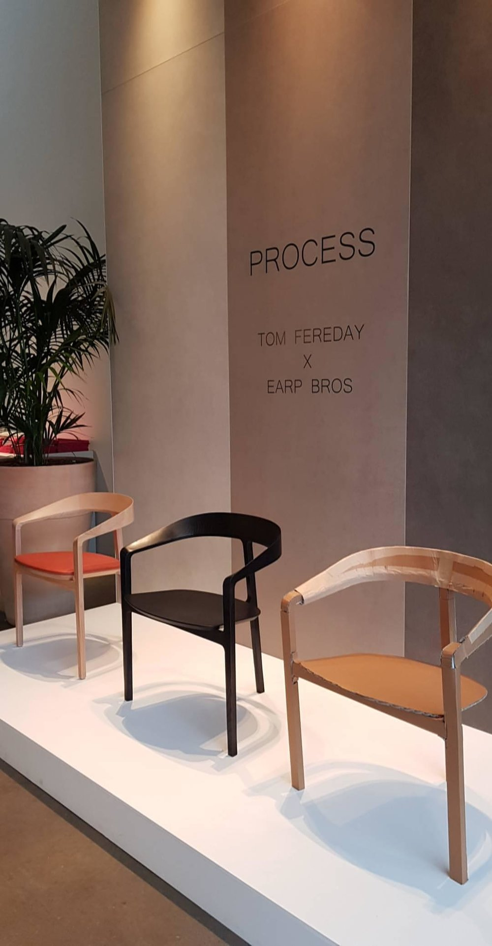 The Earp Bros showroom was a favourite for all of us this year. This display by Tom Fereday beautifully captured the latest furniture and lighting designs. Showcased alongside prototypes and models, the display told the story of each of the designs, highlighting the creative process and the evolution of each piece.