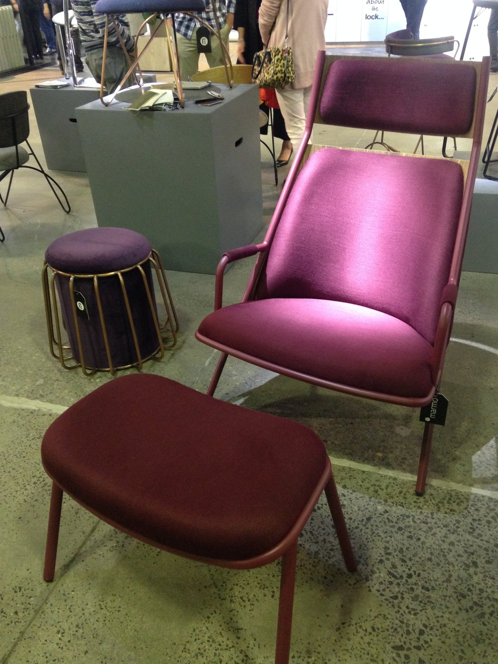 Marmo Furniture caught our eye with their bright, bold furniture pieces that you just want to touch!
