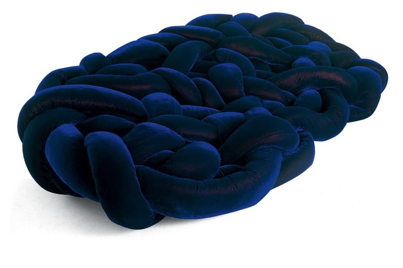 The lavish and cushiony 'Edra, Bao Sofa' by F. eH. Campana is available at  Space Furniture