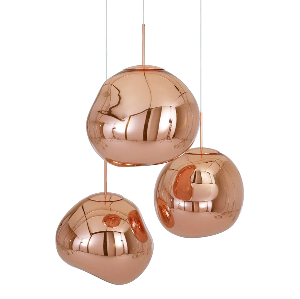 The  Tom Dixon range of Melt Copper Pendant Lights  will make Stuart's home look and feel extra Christmassy!