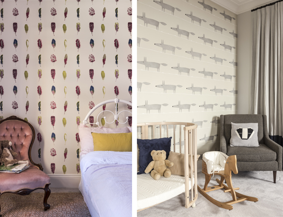 We love the use of patterned wallpaper in the children's bedrooms at our Victoria Street project, creating a sophisticated but playful vibe.