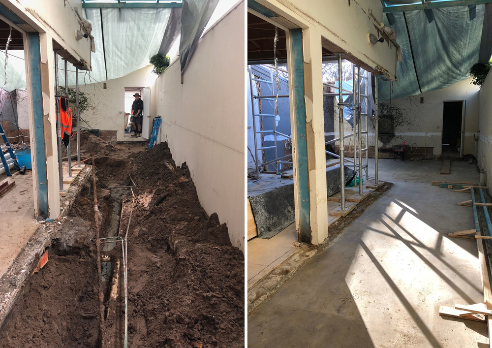 A big part of our renovation brief was to double the kitchen floor area and extend the house. Meanwhile, a new oversized skylight will bring in an abundance of natural light, brightening up the front of the house.