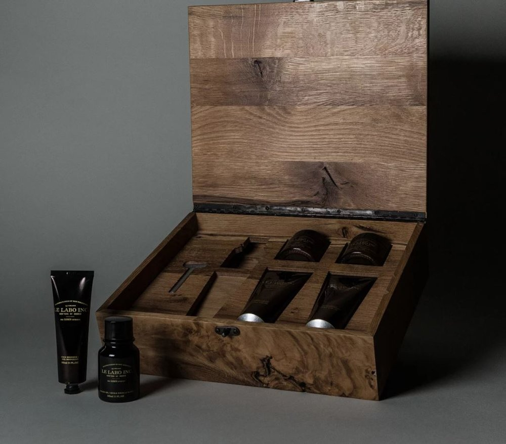 An ode to the old-school barber shop, this handmade oak box full of grooming goodies is perfect for the Dad who takes pride in his appearance. Available from  Le Labo .