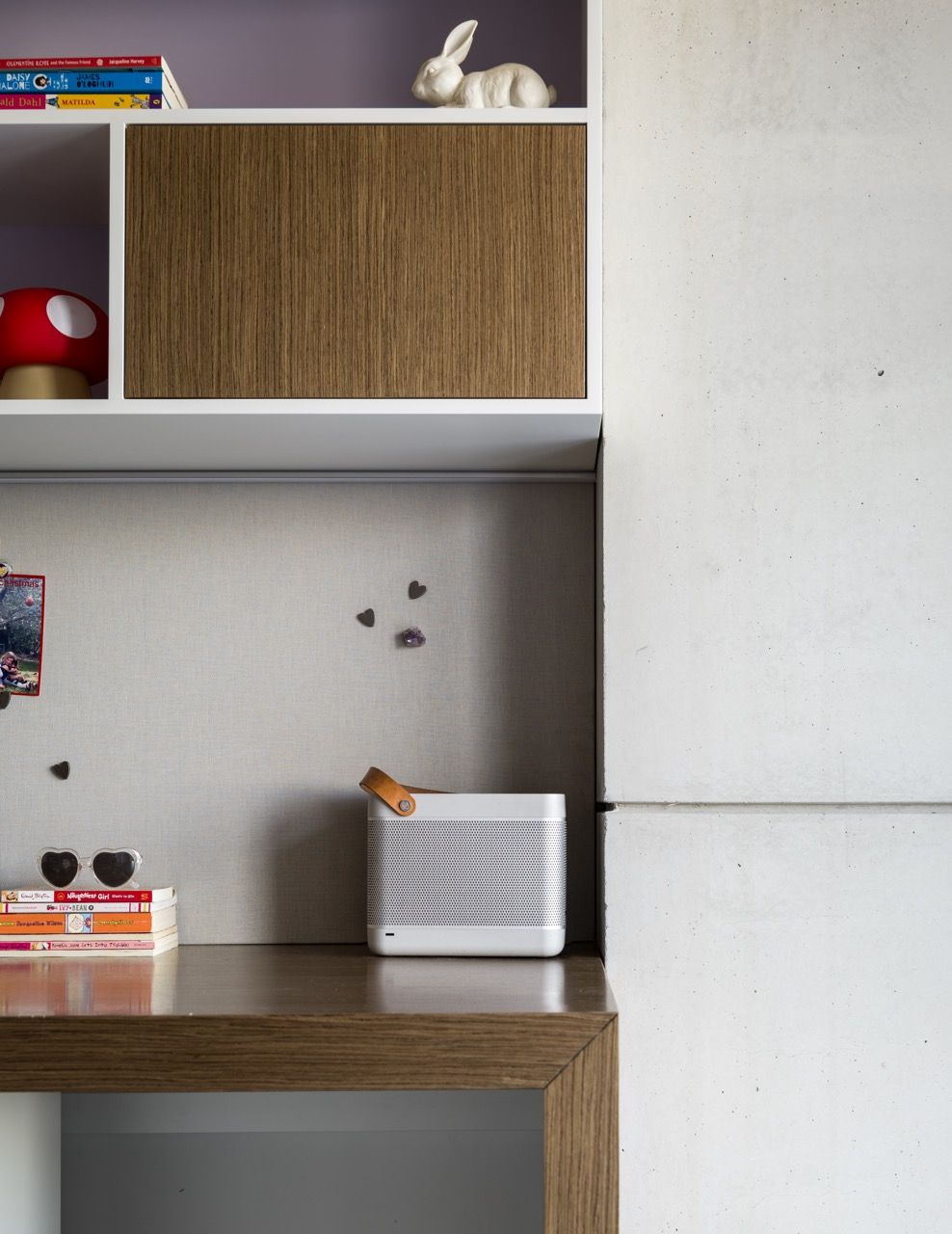 The child-friendly desk and storage space in our    Mosman House    project create a sense of ownership for this little person's room!