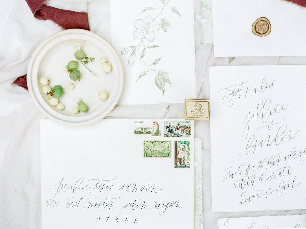 Calligraphy by  Jenny Sanders , Styling by  Tristan Needham Design