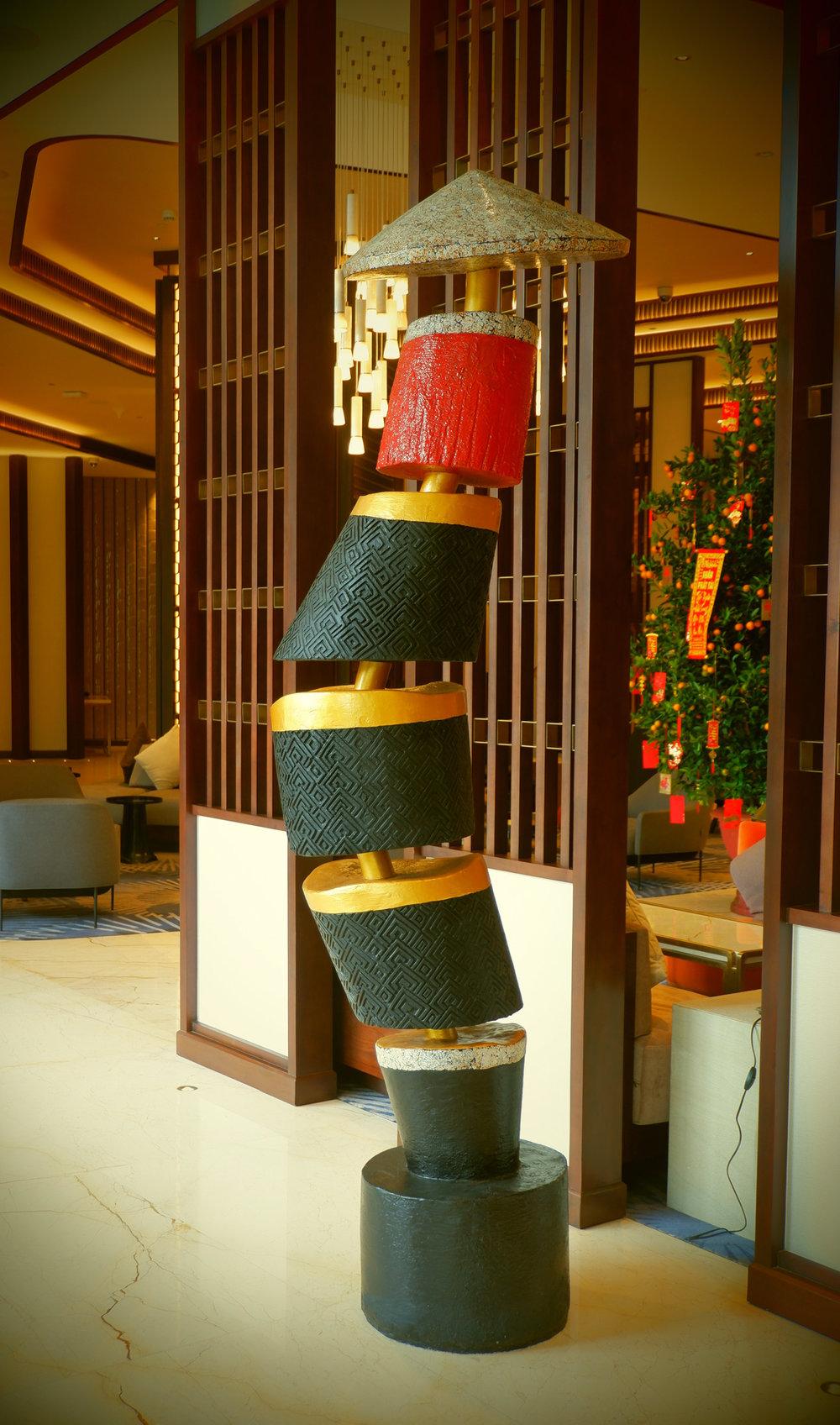 Hilton Danang Lobby Sculpture by Hay Hay