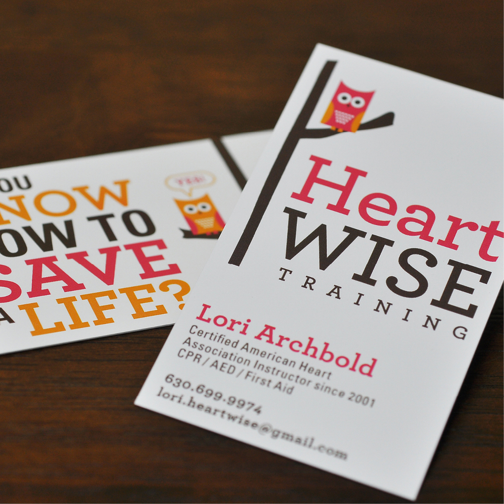 HeartWise Training Branding by Hello Gypsy | © Hello Gypsy