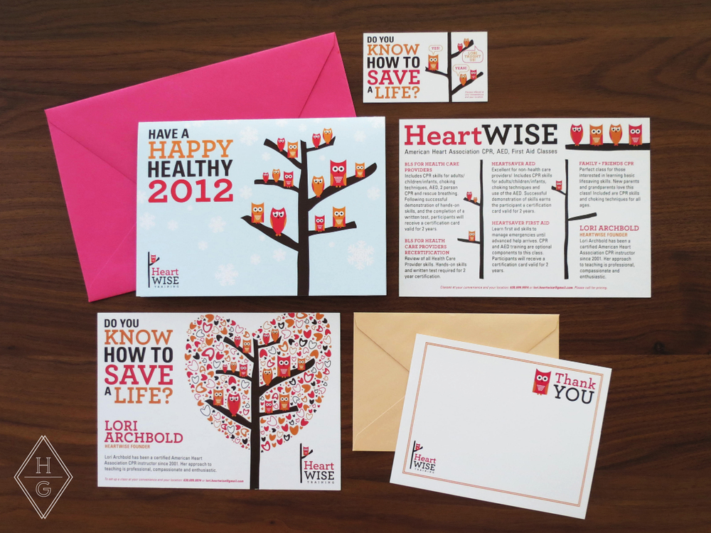 HeartWise Training Branding by Hello Gypsy | © Hello Gypsy
