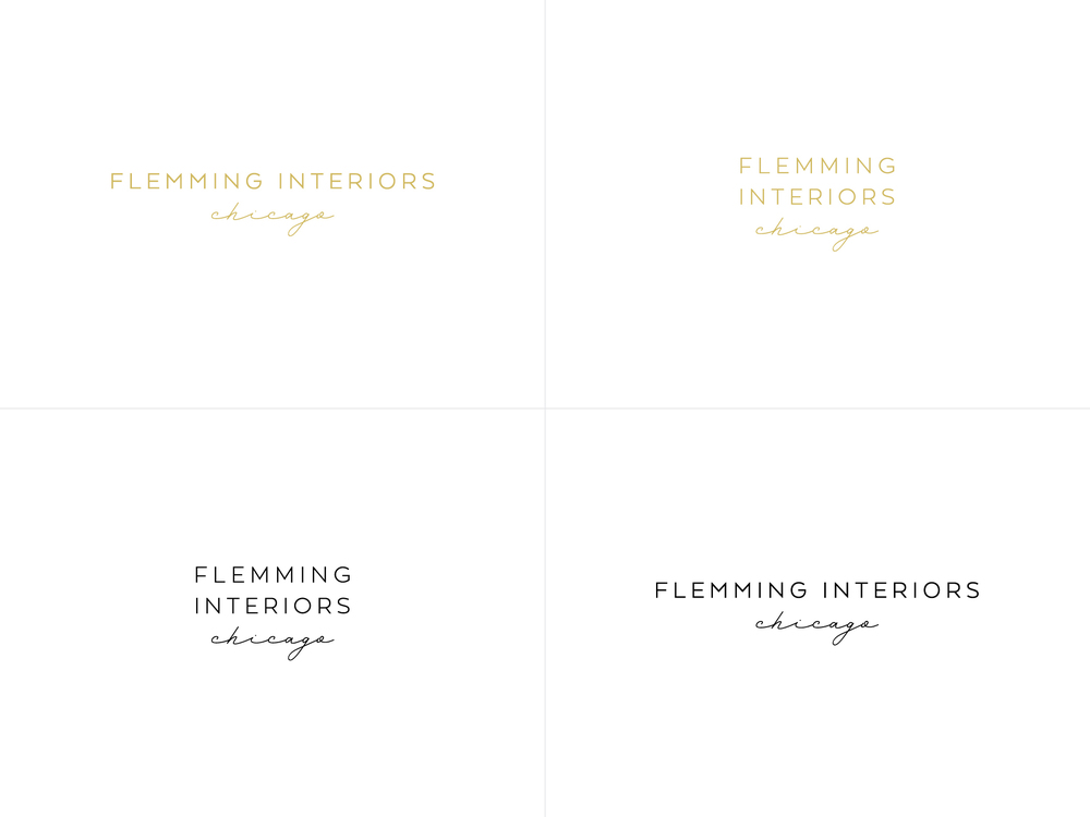 Flemming Interiors Chicago Branding by Hello Gypsy | © Hello Gypsy