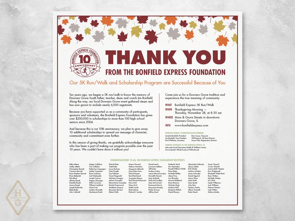 Bonfield Express Foundation Branding by Hello Gypsy | © Hello Gypsy