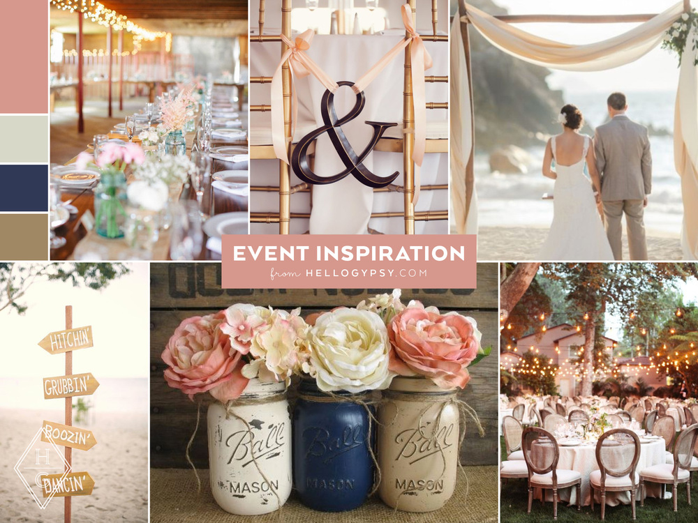 Charming + Rustic Beachfront Wedding Suite by Hello Gypsy   © Hello Gypsy