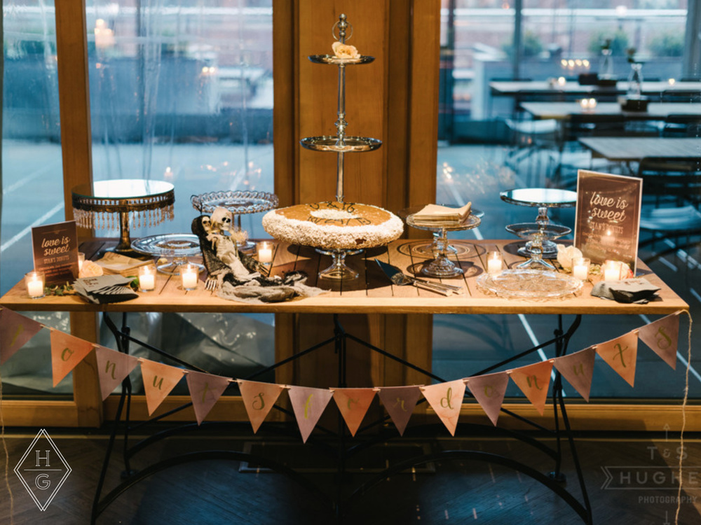Rustic + Romantic City Loft Wedding Decor with Rose Gold by Hello Gypsy | © Hello Gypsy | Photo by T & S Hughes Photography