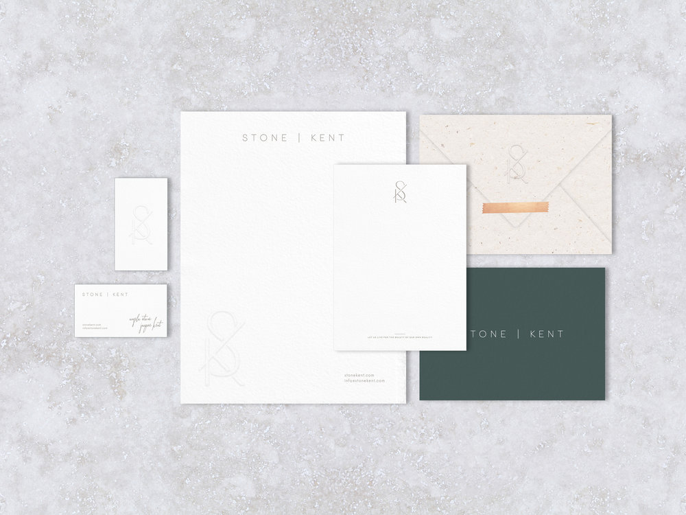 STONE | KENT  Logo Design, Brand Identity, Print Collateral, SquareSpace Website