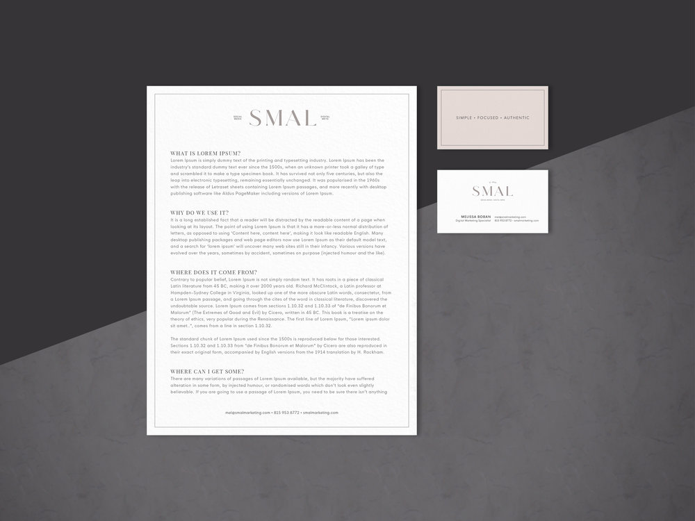 SMAL Marketing Logo Design and Branding by Hello Gypsy