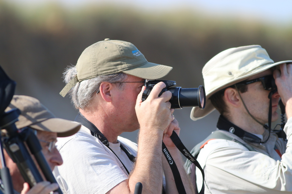 David Sibley birding. Hard to get a good photo while not being too creepy.