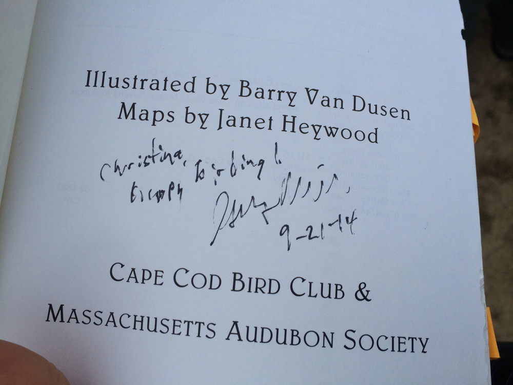 Greg Miller signed my Cape Cod book!