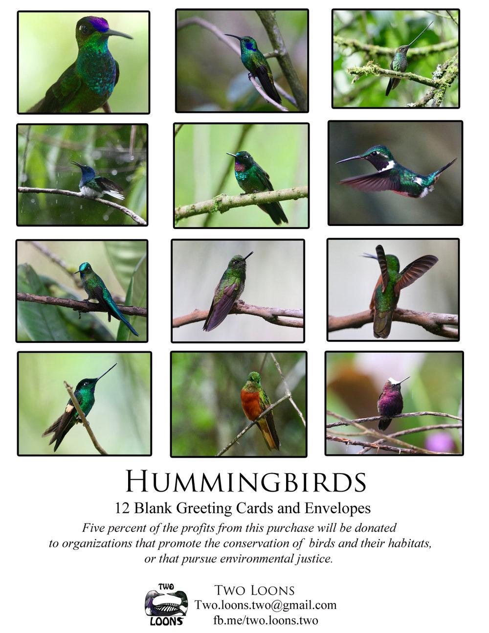Hummingbirds Greeting Card Pack